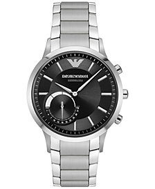 Emporio Armani Men's Stainless Steel Bracelet Hybrid Smart Watch 43mm ART3000
