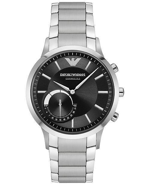 Men's Stainless Steel Bracelet Hybrid Smart Watch 43mm ART3000