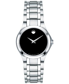 Movado Women's Swiss Collection Stainless Steel Bracelet Watch 28mm, Created for Macy's
