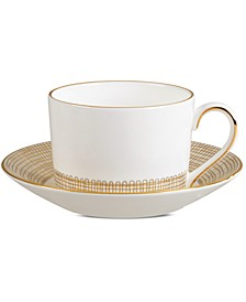 Gilded Weave Gold Imperial Teacup