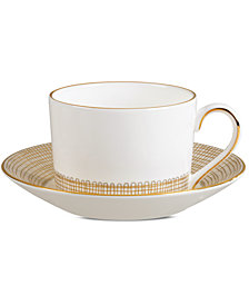 Vera Wang Wedgwood Gilded Weave Gold Imperial Teacup