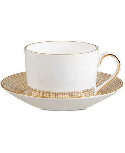 Vera Wang Wedgwood Gilded Weave Gold Imperial Tea Saucer