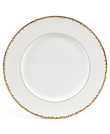 "Vera Wang Wedgwood ""Gilded Leaf"" Dinner Plate, 10.75"""