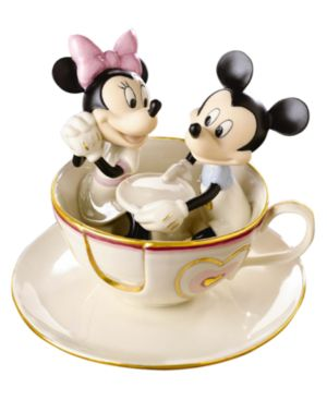 "Lenox Disney's Mickey and Friends ""Mickey's Teacup Twirl"" Figurine"