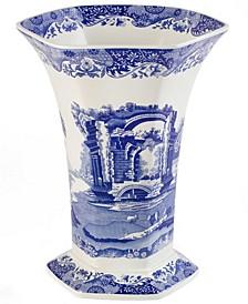 Dinnerware, Blue Italian Hexagonal Vase