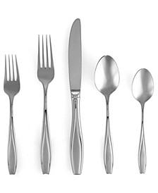 18/10 Flatware, Tulip Frosted 5 Piece Place Setting