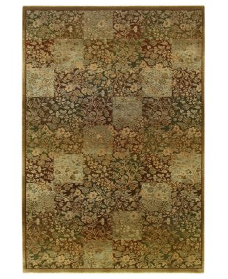 "Area Rug, Generations 3435Y Green 5' 3"" x 7' 6"""