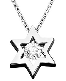 EFFY Diamond Diamond Star Of David Pendant (1/5 ct. t.w.) in 14k White Gold
