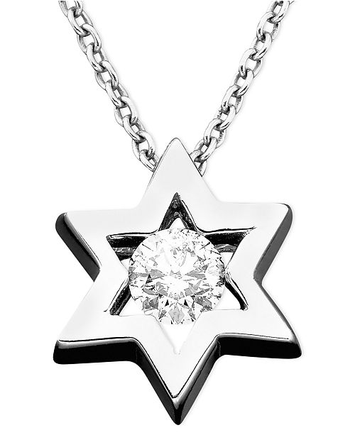 EFFY Collection EFFY® Diamond Diamond Star Of David Pendant (1/5 ct. t.w.) in 14k White Gold