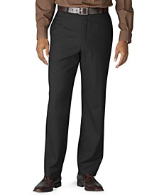 Wool Blend Flat-Front Performance Pants
