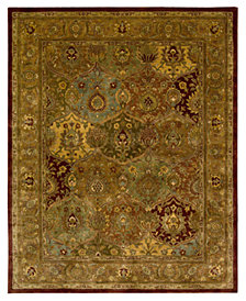 Nourison Rugs, Rajah JA25 Dark Panel Multi