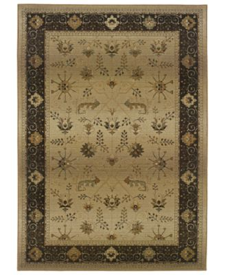 CLOSEOUT!  Area Rug, Genesis 112M Beige and Slate 6' Round
