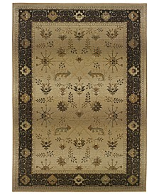 "CLOSEOUT! Oriental Weavers  Area Rug, Genesis 112M Beige and Slate 6' 7"" x 9' 1"""