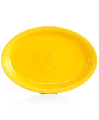 "Sunflower 19"" Oval Serving Platter"