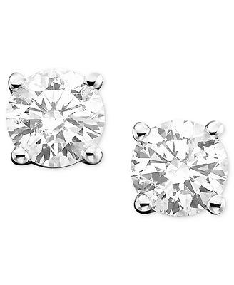 Diamond Stud Earrings 1 2 ct t w in 14k White Gold or Gold