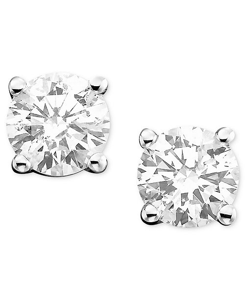 Macy's Diamond Stud Earrings (1/2 ct. t.w.) in 14k White Gold or Gold
