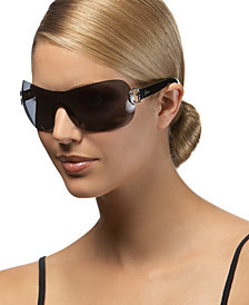 GUESS Sunglasses, Rimless Shield Frames