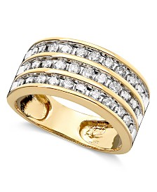 Three-Row Diamond Ring (1 ct. t.w.) in 14k Gold