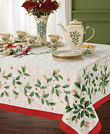 "Lenox Holiday 60"" x 104"" Tablecloth"