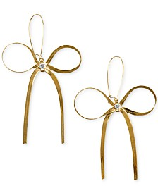 Betsey Johnson Gold-Tone Bow Earrings