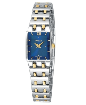 Pulsar Watch, Women's Two Tone Stainless Steel Bracelet PEG363