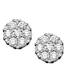 Diamond Earrings in 14k White Gold (1 ct. t.w.)