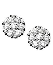 Diamond Earrings in 14k White Gold (1 ct. t.w.)