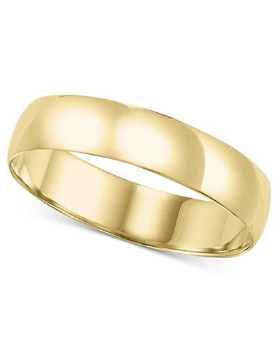 14k Gold 5mm Comfort Fit Wedding Band