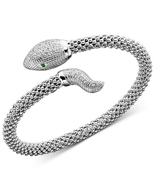 Macy's Diamond Snake Bracelet in Sterling Silver (1/4 ct. t.w.)