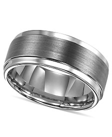 Triton Mens Ring Tungsten Carbide Comfort Fit Wedding Band 9mm
