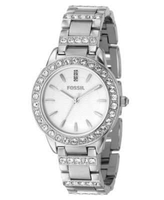 fossil womenu0027s jesse stainless steel bracelet watch es2362 - Stainless
