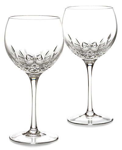 Waterford Stemware Lismore Essence Balloon Wine Glasses, Set of 2