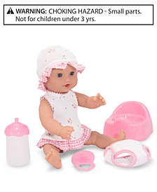 "Melissa and Doug Baby Doll, 12"" Annie Drink and Wet Doll"
