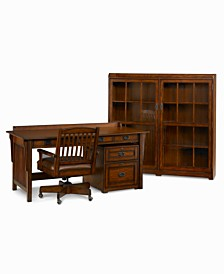 sedona home office furniture 4 piece set bookcase desk rolling file and