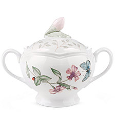 "Lenox ""Butterfly Meadow"" Sugar Bowl"