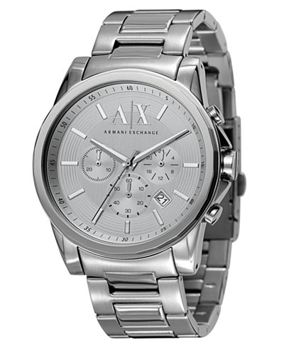 A|X Armani Exchange Men's Chronograph Stainless Steel Bracelet Watch 45mm AX2058