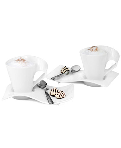 villeroy boch dinnerware new wave caffe coffee for 2 gift set serveware dining. Black Bedroom Furniture Sets. Home Design Ideas