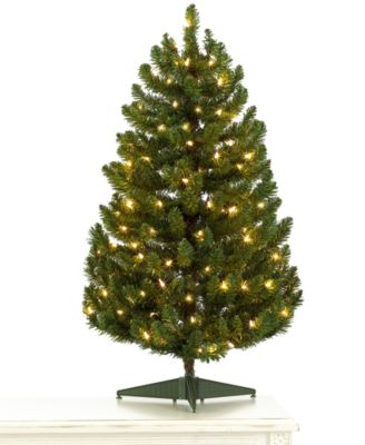 holiday lane 3 green christmas tree with clear lights - Green Christmas Tree Decorations