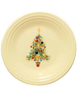 fiesta christmas tree lunch plate dinnerware dining entertaining macys
