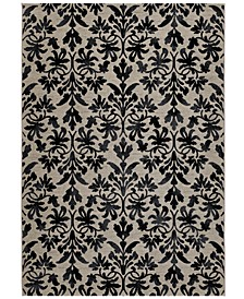 Area Rugs, Taylor Collection Retro Damask Grey-Black