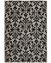 Couristan Area Rugs, Taylor Collection Retro Damask Grey-Black