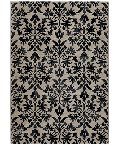 Couristan Area Rugs Taylor Collection Retro Damask Grey Black