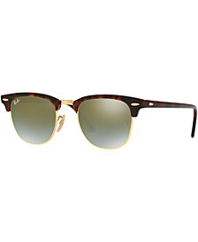 Ray-Ban CLUBMASTER GRADIENT MIRRORED Sunglasses, RB3016