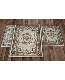 CLOSEOUT! Corinthian 5311 Ivory Aubusson 3-Pc. Rug Set