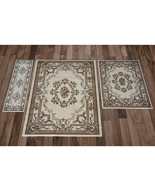 Aubusson Rugs Macys: Kas CLOSEOUT! Corinthian 5311 Ivory Aubusson 3-Pc. Rug Set