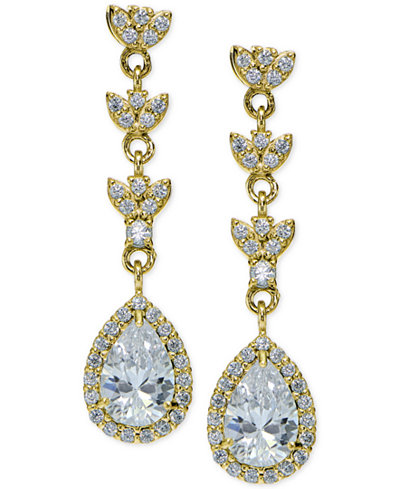 on rhodium earrings product drop cubic file pear clip page zirconia