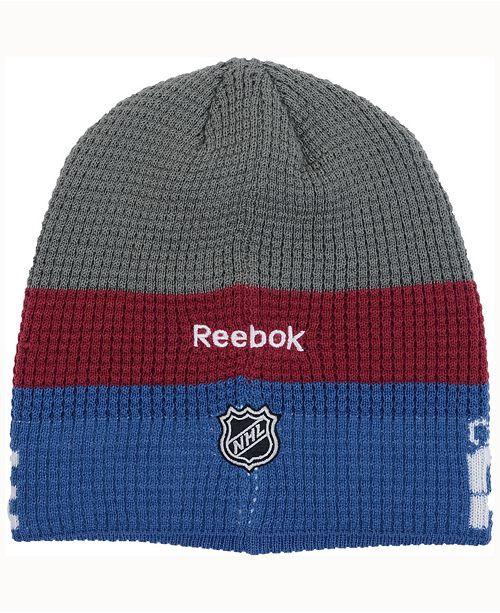 e42e15f329f Reebok Colorado Avalanche Player Knit Hat   Reviews - Sports Fan ...