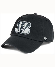 '47 Brand Cincinnati Bengals Charcoal White Clean Up Cap