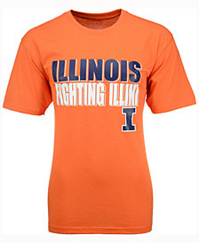 Colosseum Men's Illinois Fighting Illini Wordmark Stack T-Shirt