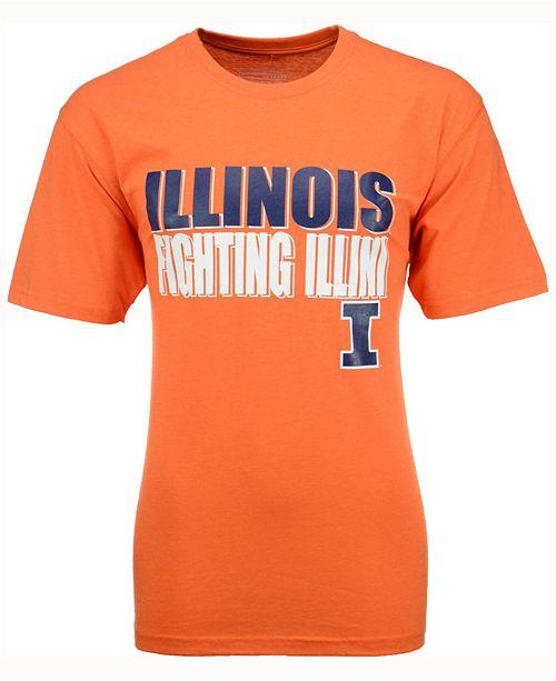 Colosseum Men's Illinois Fighting Illini Wordmark Stack T-Shirt